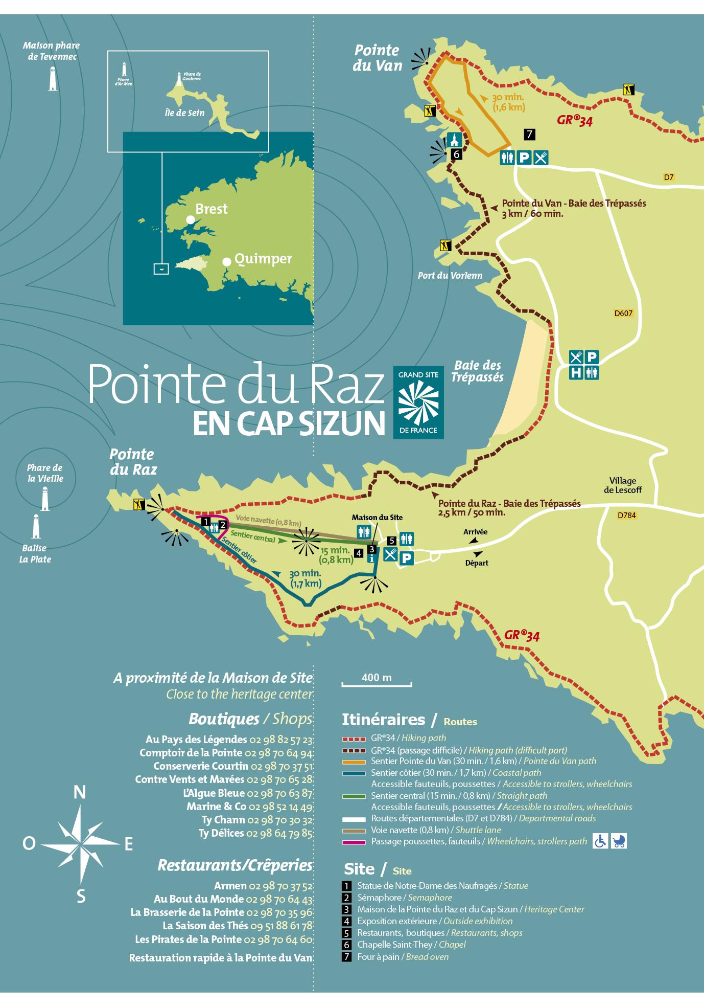 Carte Bretagne Pointe Du Raz.Brochures Pointe Du Raz En Cap Sizun
